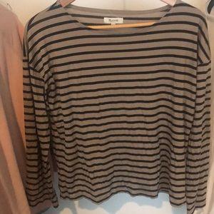Madewell Striped 3/4 Sleeve Shirt